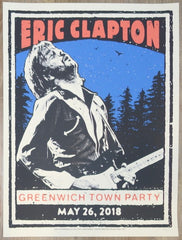 2018 Eric Clapton - Greenwich Silkscreen Concert Poster by Ridin' High