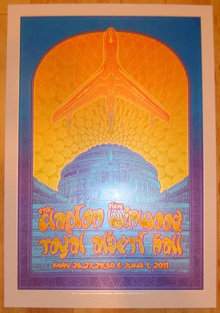 2011 Clapton & Winwood - London Silkscreen Poster by Dave Hunter