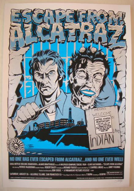 "2006 ""Escape From Alcatraz"" Silkscreen Movie Poster by Stainboy"