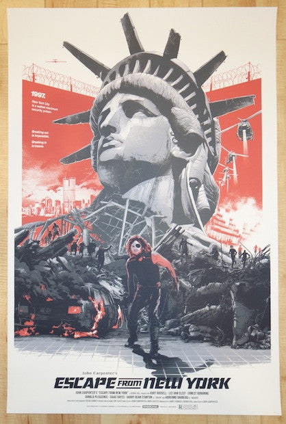 Escape From New York Poster.2014 Escape From New York Variant Movie Poster By Domaradzki