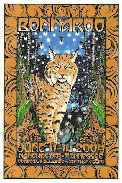 2009 Bonnaroo - Silkscreen Concert Poster by Michael Everett