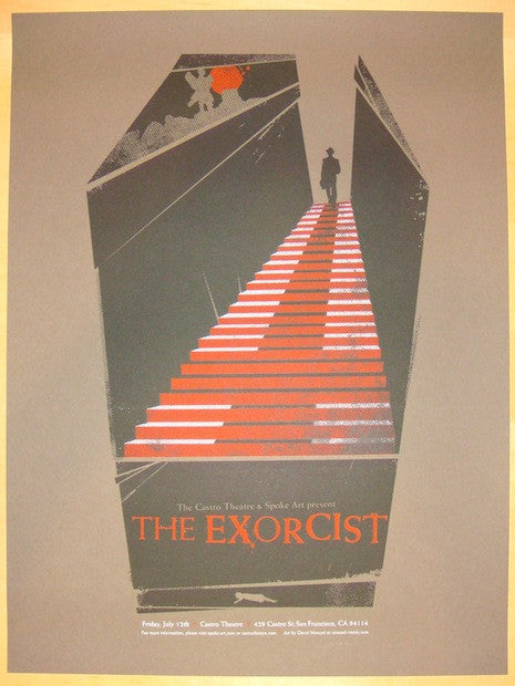 "2013 ""The Exorcist"" - Silkscreen Movie Poster by David Moscati"