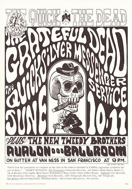 1966 Grateful Dead / Quicksilver Messenger Service - Avalon Concert Poster by Wes Wilson