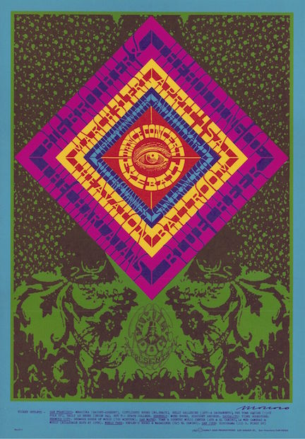1967 Big Brother & The Holding Co. (Janis Joplin) - Avalon Poster by Victor Moscoso RP-2