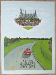 2016 Ferris Bueller's Day Off - Silkscreen Movie Poster by Marq Spusta