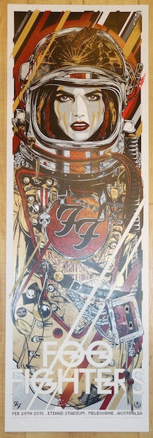 2015 Foo Fighters - Melbourne Silkscreen Concert Poster by Rhys Cooper