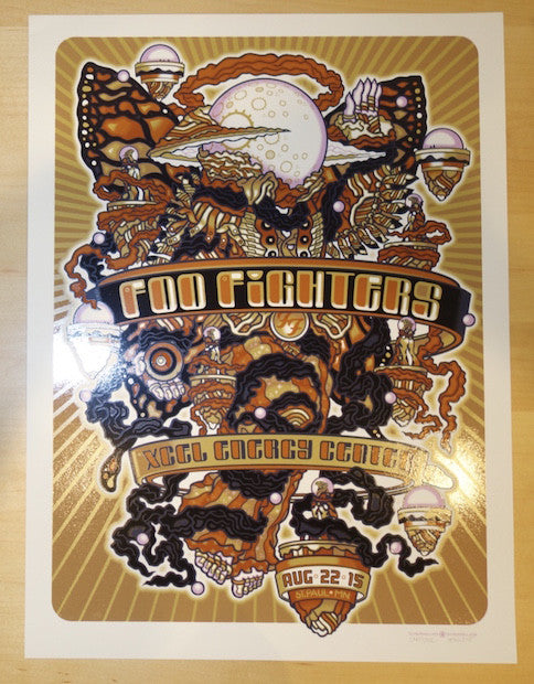 2015 Foo Fighters - St. Paul Silkscreen Concert Poster by Guy Burwell