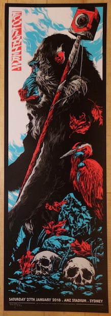 2018 Foo Fighters - Sydney Silkscreen Concert Poster by Ken Taylor