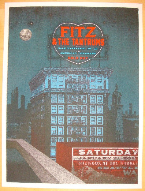 2012 Fitz & The Tantrums - Seattle II Poster by Jon Smith