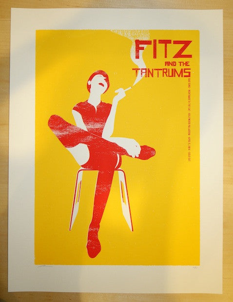 2014 Fitz and the Tantrums - Hollywood Concert Poster by Vastagh