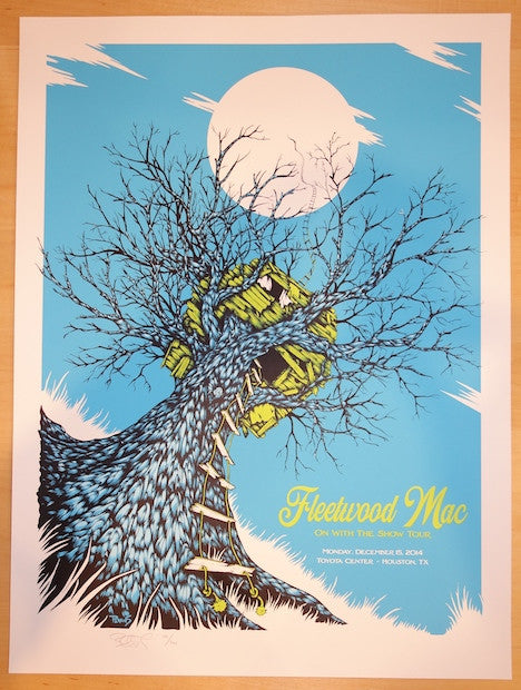 2014 Fleetwood Mac - Houston Concert Poster by Billy Perkins