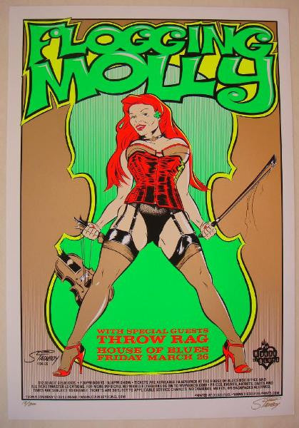 2004 Flogging Molly & Throw Rag - Concert Poster by Stainboy