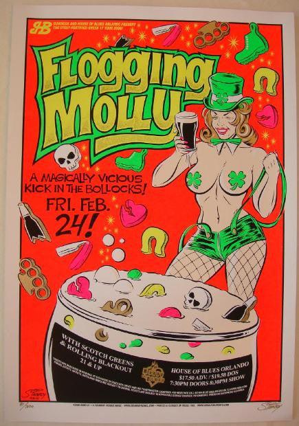 2005 Flogging Molly - Silkscreen Concert Poster by Stainboy