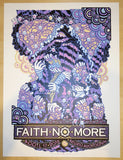 2015 Faith No More - Portland Silkscreen Concert Poster by Guy Burwell