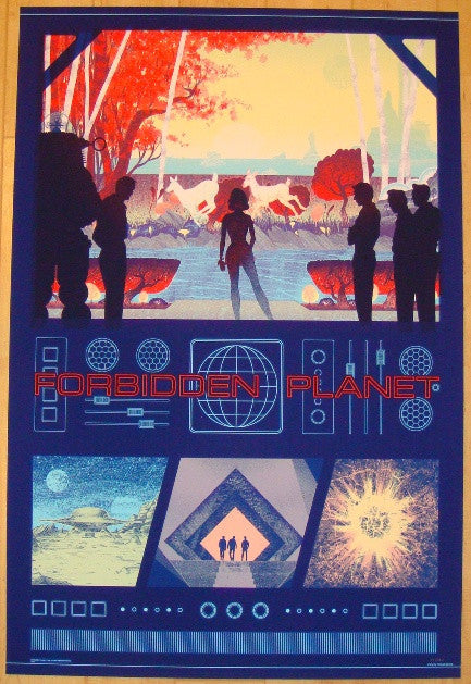 "2012 ""Forbidden Planet"" - Silkscreen Movie Poster by Kevin Tong"