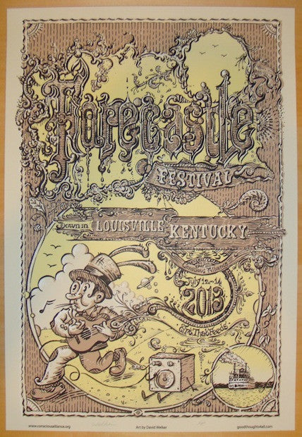 2013 Forecastle Festival - Silkscreen Poster by David Welker
