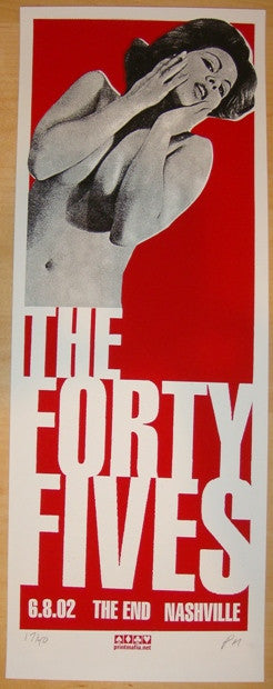 2002 The Forty Fives - Nashville Concert Poster by Print Mafia