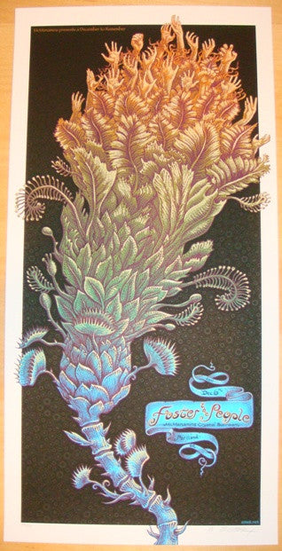 2011 Foster The People - Portland Concert Poster by Emek