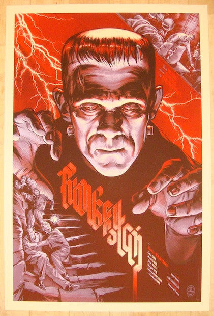 "2012 ""Frankenstein"" - Silkscreen Movie Poster by Martin Ansin"