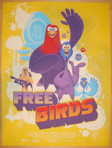 "2013 ""Free Birds"" - Silkscreen Movie Poster by Graham Erwin"