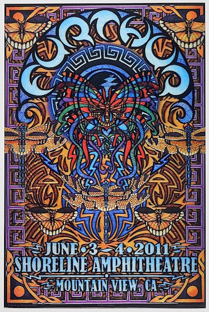 2011 Furthur - Mountain View Lenticular Concert Poster by Michael Everett