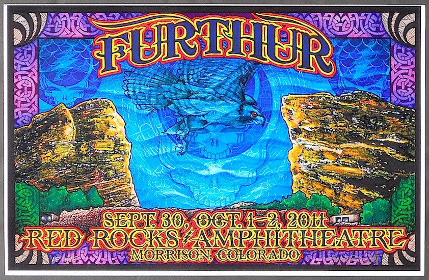 2011 Furthur - Red Rocks Concert Poster by Michael Everett