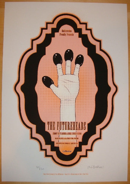 2005 The Futureheads Silkscreen Concert Poster by Tara McPherson