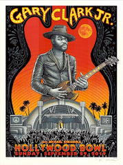 2019 Gary Clark Jr. - Hollywood Sunset Variant Silkscreen Concert Poster by Emek