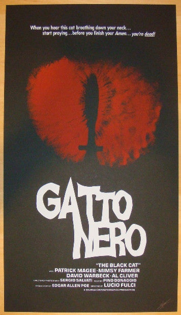 "2012 ""Gatto Nero"" - Silkscreen Movie Poster by Jay Shaw"