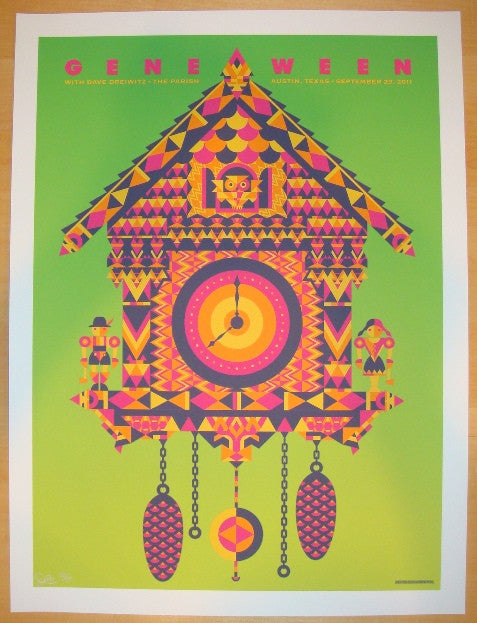 2011 Gene Ween - Austin Variant Concert Poster by Todd Slater
