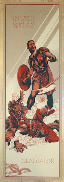 "2015 ""Gladiator"" - Silkscreen Movie Poster by Martin Ansin"