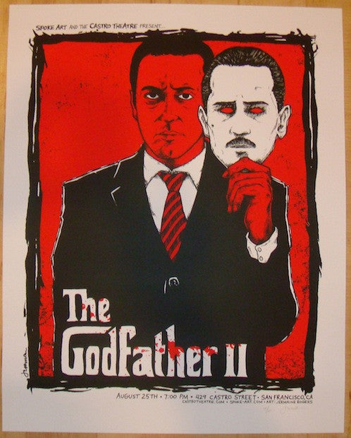 "2013 ""The Godfather II"" - Silkscreen Movie Poster by Jermaine"
