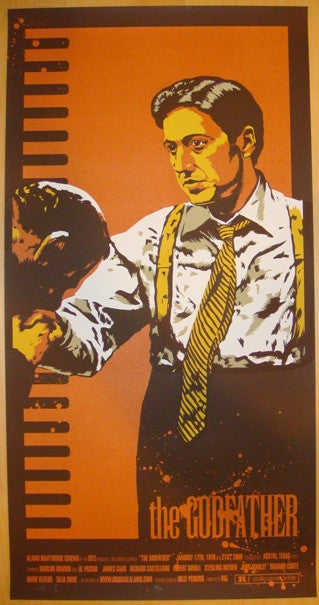 "2009 ""The Godfather"" - Silkscreen Movie Poster by Billy Perkins"