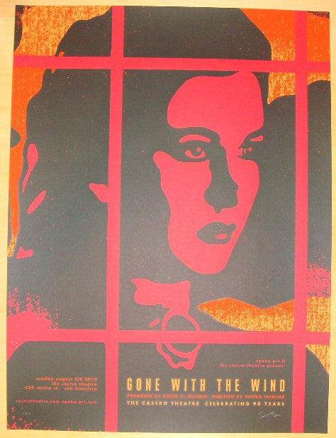 "2012 ""Gone With The Wind"" - Silkscreen Movie Poster by Sam Smith"