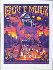 2018 Gov't Mule - NYE Run Philadelphia/NYC Silkscreen Concert Poster by Jim Mazza