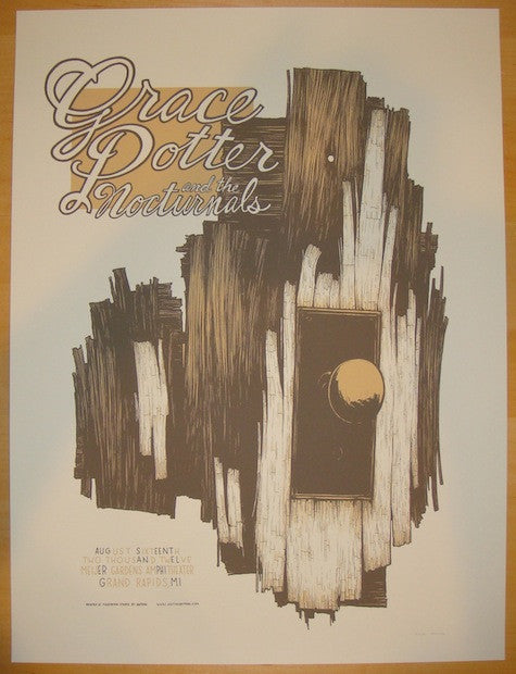 2012 Grace Potter - Grand Rapids Silkscreen Concert Poster by Justin Santora