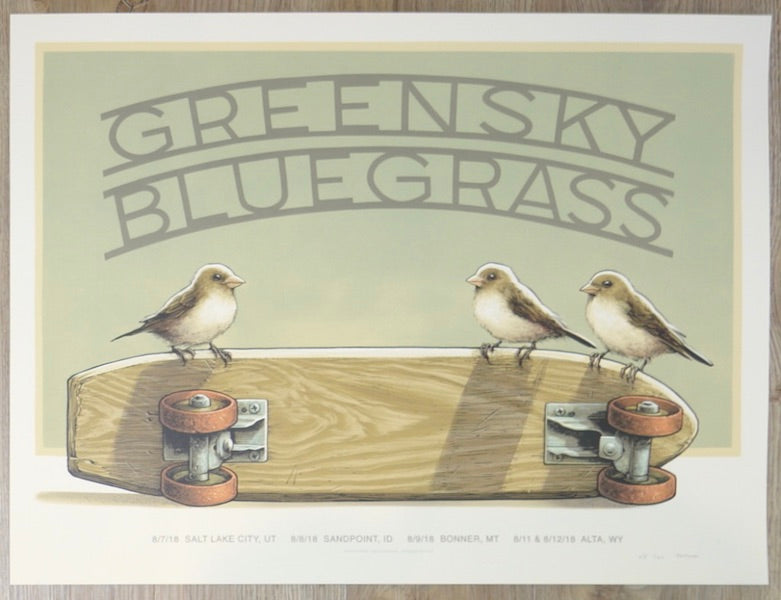 2018 Greensky Bluegrass - Rockies Tour Silkscreen Concert Poster by Justin Santora