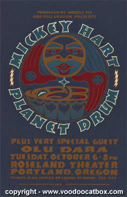 1998 Mickey Hart Planet Drum Concert Poster by Gary Houston