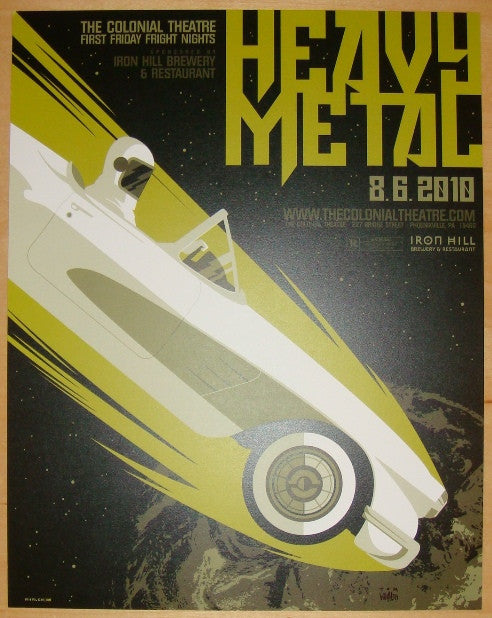 "2010 ""Heavy Metal"" - Giclee Movie Poster by Tom Whalen"