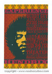 1998 Jimi Hendrix Tribute Silkscreen Concert Poster Gary Houston