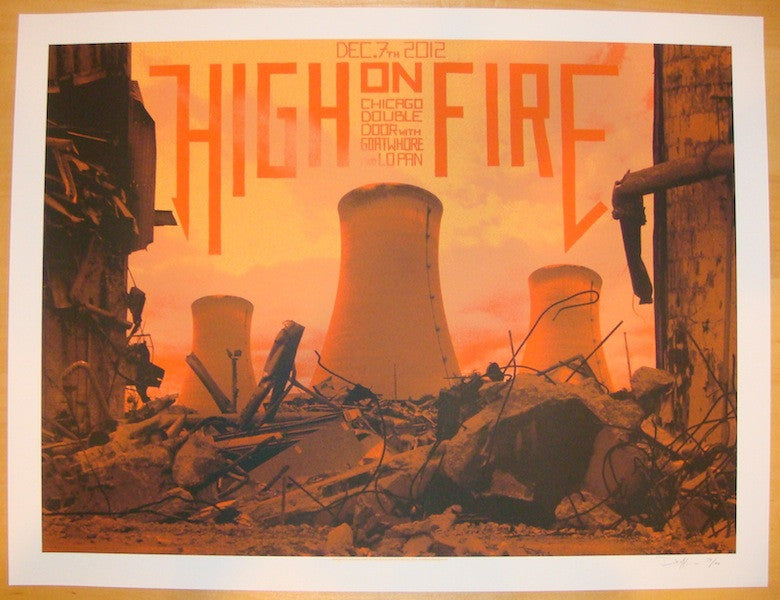 2012 High On Fire - Chicago Concert Poster by Crosshair