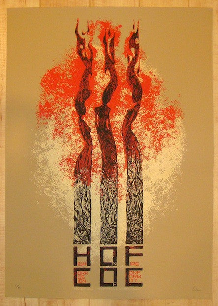 2012 High On Fire - Santa Cruz Concert Poster by Malleus