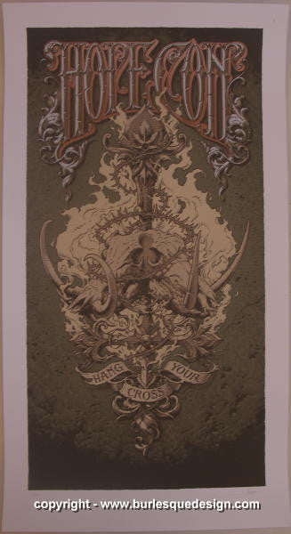 2007 Hope Conspiracy - Brown Silkscreen Poster by Aaron Horkey