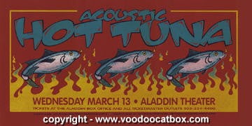 2002 Hot Tuna Silkscreen Concert Poster by Gary Houston