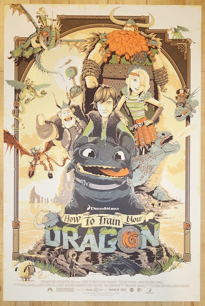"2014 ""How To Train Your Dragon"" - Movie Poster by Connan"