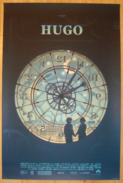 "2012 ""Hugo"" - Silkscreen Movie Poster by Kevin Tong"