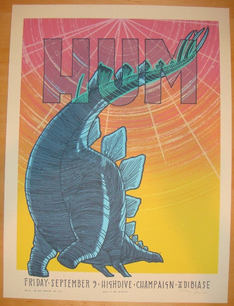 2011 Hum - Champaign Silkscreen Concert Poster by Jay Ryan