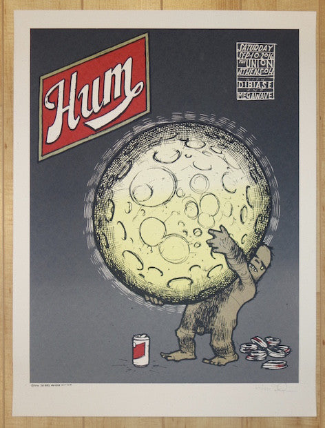 2016 Hum - Athens Silkscreen Concert Poster by Jay Ryan