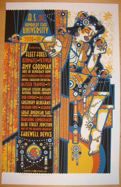 2009 Fleet Foxes & Blitzen Trapper - Concert Poster by Burwell