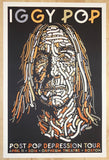 2016 Iggy Pop - Boston Silkscreen Concert Poster by Guy Burwell